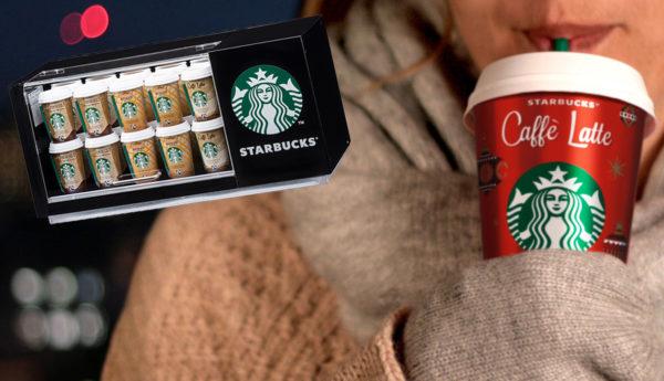 Gewinne jetzt einen coolen Starbucks Mini-Kühlschrank