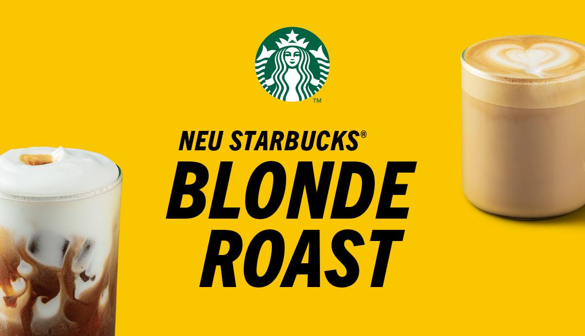 Der milde Starbucks Blonde Roast lässt dich dein Lieblingsgetränk neu erleben!
