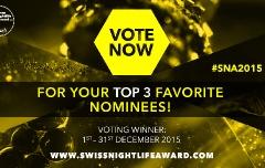 Swiss Nightlife Award: Letzte Chance für deine Favoriten zu voten!